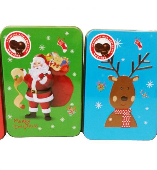 Christmas Rectangle Tins with Chocolate