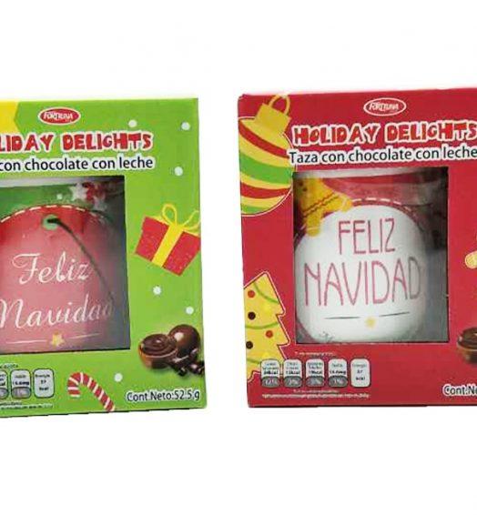 Christmas Mugs in Box with Chocolate
