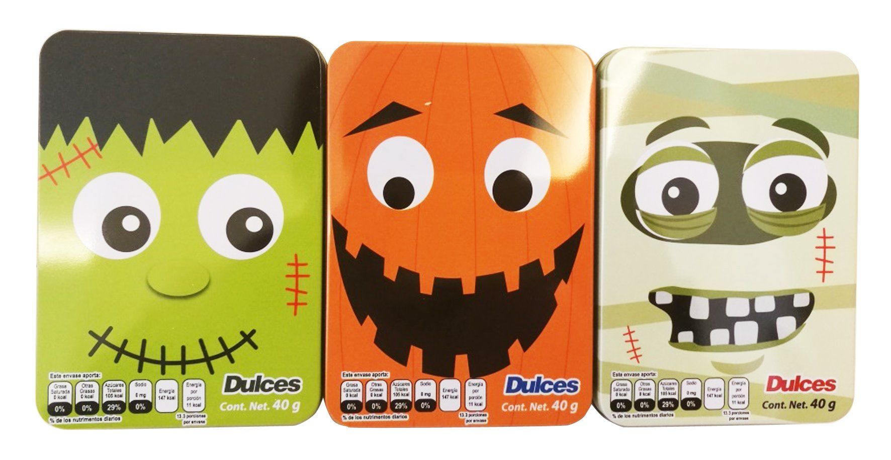 Halloween Tin with Candy