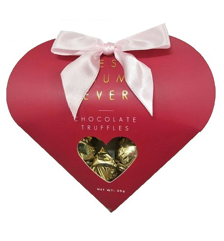 Mother's Day Heart Box Ribbon & Chocolate
